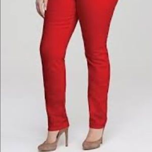 Lane Bryant High Rise Red Skinny Jeans